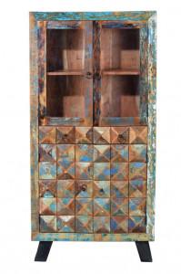 Vitrina multicolora din lemn reciclat 180 cm Diamante Giner y Colomer