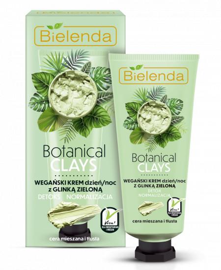 BOTANICAL CLAYS Crema Vegana de Fata cu Argila Verde Zi/Noapte 50 ml