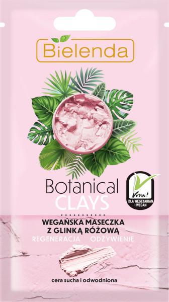 BOTANICAL CLAYS Masca de Fata Vegana cu Argila Roz 8g