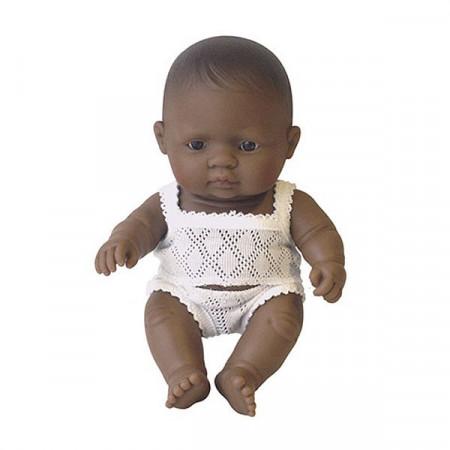 Papusa bebelus fetita latinoamericanca Miniland 21 cm