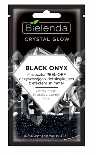 CRYSTAL GLOW BLACK ONYX Masca de Fata PEEL-OFF Detoxifianta si cu Efect de Stralucire 8g
