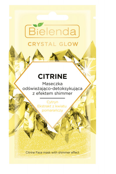 CRYSTAL GLOW CITRINE Masca de Fata Revigoranta si Detoxifianta cu Efect de Stralucire 8g