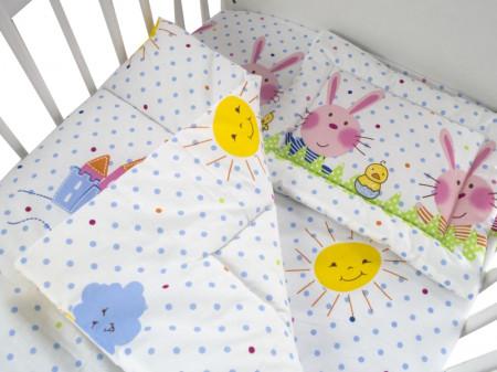 Lenjerie MyKids Funny Bunny 3 Piese 120x60