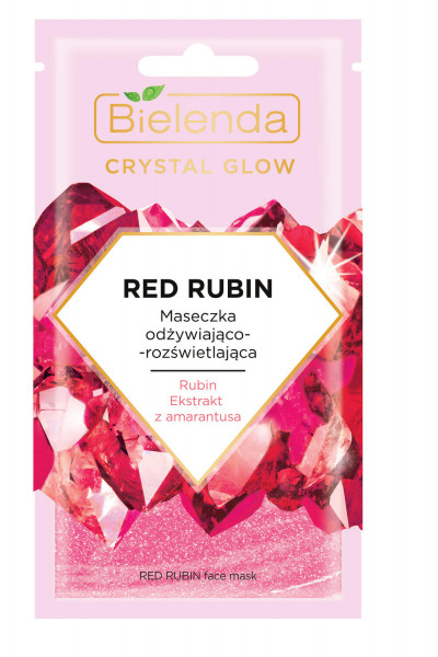 CRYSTAL GLOW RED RUBIN Masca de Fata Hidratanta si Iluminatoare 8g