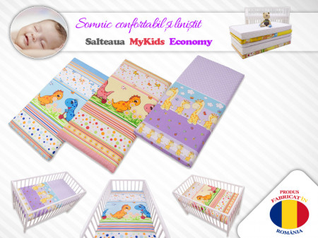 Saltea Fibra Cocos MyKids Economy II Color Diverse Modele 120x60x10