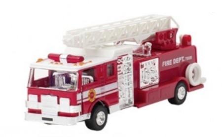 Masinuta de pompieri Die Cast cu sunete si lumini