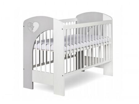 Mobilier Camera copii Si Bebelusi KLUPS NEL HEART Alb Gri