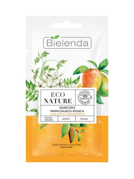 ECO NATURE - Masca de Fata Hidratanta si Calmanta cu Prune Kakadu, Iasomie si Mango 8g