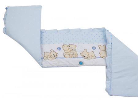 Lenjerie MyKids Teddy Friends Albastru 4 Piese M2 120x60
