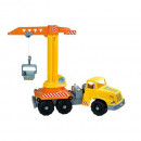 Camion cu macara functionala de jucarie