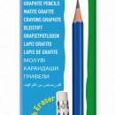Creion CARIOCA, duritate HB, cu radiera