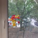 Decoratiune electrostatica pentru fereastra - inimioare