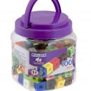 Set 100 cuburi 2 cm - Miniland
