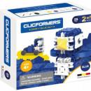 Set de construit Clicformers- Craft albastru, 25 de piese