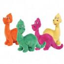Dinozaur de plus - dragalas si vesel 26cm - 4 culori disponibile