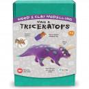 Kit constructie lemn si argila - Triceratops Fiesta Crafts FCT-2957