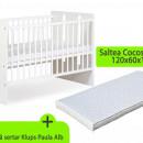 Patut fara sertar KLUPS Paula Alb + Saltea 10 MyKids Confort II