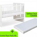 Patut fara sertar KLUPS Paula Alb + Saltea 8 MyKids Confort II