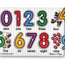 Puzzle lemn Cifrele Melissa and Doug