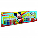 Set pictura 96 piese, 4 stampile, tus, 60 carioci, 30 stickere si caiet cu activitati Mickey Multiprint MP18945