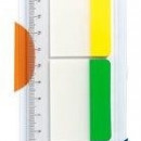 Stick index plastic transp. cu margine color 37 x 50 mm, 3 x 10file/set, Stickn - 3 culori neon""