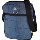 Geanta tableta CATERPILLAR Millennial Classic - Ryan, material 600D HD polyester - negru cu bleumari