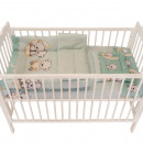 Lenjerie MyKids Bear On Moon Mint 3 piese 140x70