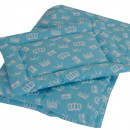 Lenjerie MyKids Crown Turquoise 3 Piese 140x70
