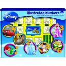 Set educativ cu stampile Numere Disney 46 piese, 26 stampile, tus, 18 carioci si caiet cu activitati Multiprint MP1937