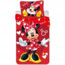 Set lenjerie pat copii Minnie Red 100x135 + 40x60 SunCity JFK025215
