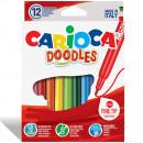 Carioca super lavabila, varf subtire - 2.2mm, 12 culori/cutie, CARIOCA Doodles