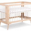 Patut lemn copii Klups Sofie Alb-Natur