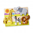 Puzzle din lemn Jumbo Safari Melissa and Doug