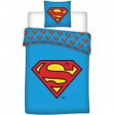 Set lenjerie pat copii Superman 140x200 + 70x90 SunCity BRM001602