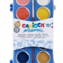 Acuarele lavabile, 12 culori/cutie + 1 pensula, CARIOCA Aquarell