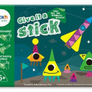 """Carte creativa Stickn Give it a Stick - triunghiuri (+5 ani)"""""""