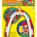 lampion model clown - 60 cm. Glob decorativ din hartie model clown