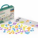 Set portativ si 96 note muzicale translucide