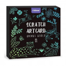 Set Scratch art Animal, 15 piese Mideer MD4083