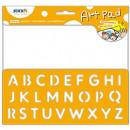 "Bloc desen autoadeziv 254 x 305mm, 24 file/set, Stickn Art Pad - alfabet"""