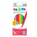 Creioane colorate CARIOCA, hexagonale, 12 culori/cutie