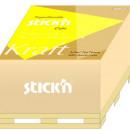 "Cub notes autoadeziv 76 x 76 mm, 400 file, Stickn - kraft"""