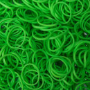 Elastice Rainbow Loom - Opac Verde-lime-600 buc