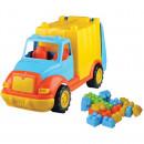 Camion pentru gunoi 48 cm cu 38 piese constructie Ucar Toys UC86