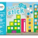"Carte creativa Stickn Give it a Stick - patrate (+3 ani)"""