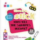 "Carte creativa Stickn Square - patrate neon asortate"""