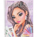 Carte de colorat Create Your Make-Up Top Model. Dimensiuni 24 x 19.5 x 1 cm