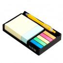 "Notes autoadeziv cu suport, 76 x 76/76 x 25/45 x 12 mm, Stickn - culori asortate"""