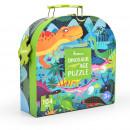 Puzzle Cutie cadou - Epoca dinozaurilor, 104 piese Mideer MD3026