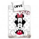 Set lenjerie pat copii Minnie Love 140x200 + 70x90 SunCity CBX208002MCK
